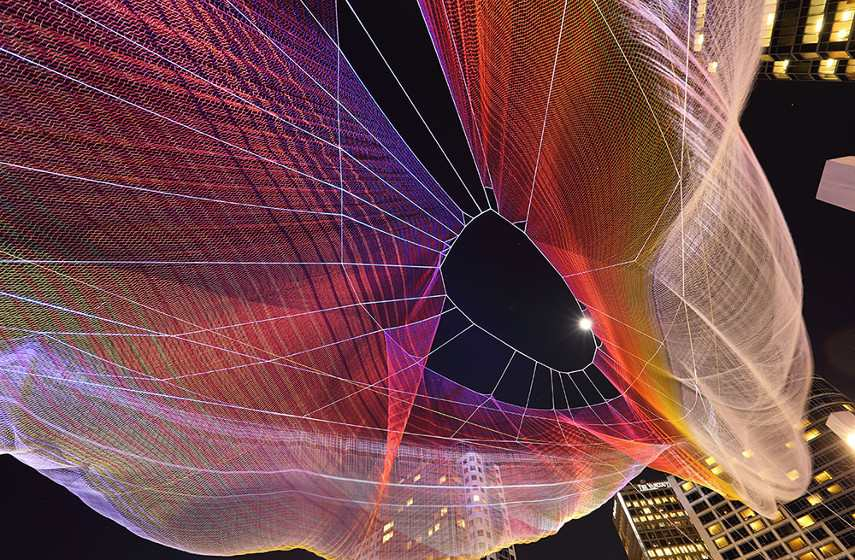 Aaron Koblin - Unnumbered Sparks (detail), 2014 johnny cash project video ted design user