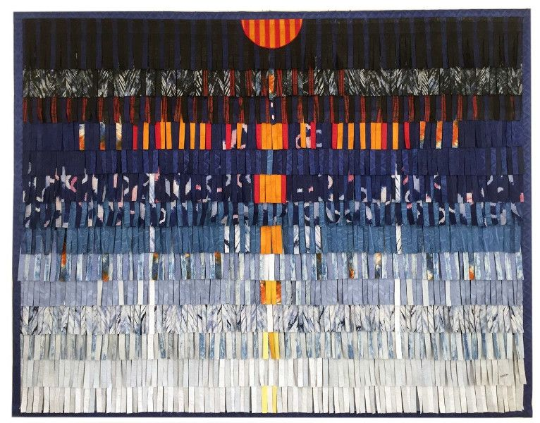 Abdoulaye Konate - Composition in Blue Abba 1A, 2016