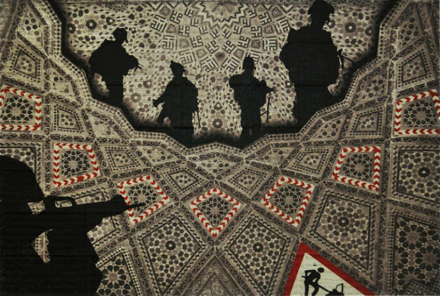 Abdulnasser Gharem - Men at Work, 2010, photo via barjeelartfoundation.org