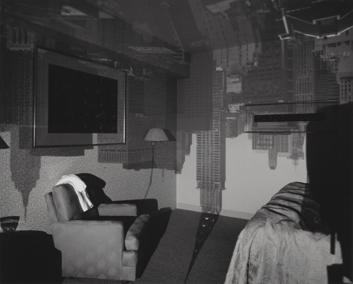 Abelardo Morell-Camera Obscura Image of the Chrysler Building in hotel room-1999