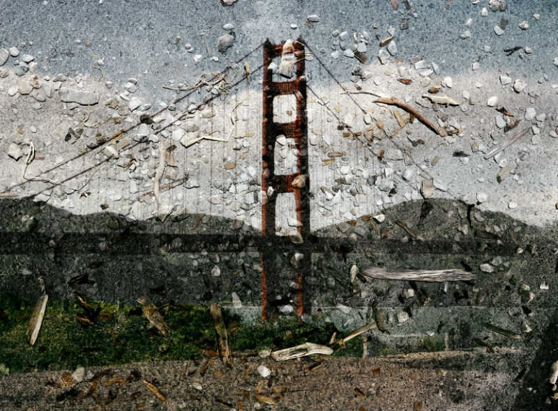 This Tent Camera Photo Shows The Recent View On The Bridge Form 2013. It Is Abelardo  Morell ...