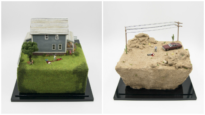 Go to diorama home Like and sign dioramas design Tanaka Tatsuya makes miniatures Japanese calendar day objects Make diorama miniatures Making house things from ideas models box with new scale miniatures model miniature diorama<br />