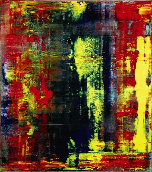 Abstraktes Bild (809-4), (1994) by Gerhard Richter. The painting was sold by Eric Clapton in a Sotheby's auction of in London for 21.3 million pounds ($34.2 million) - more than 30 times what Clapton paid for it in 2001. Photo credits: Sotheby's via Bloomberg