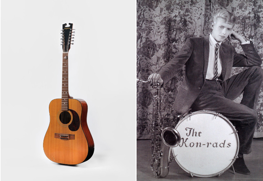 "Acoustic guitar from the ""Space Oddity"" era, 1969 - Publicity photograph for The Kon-rads, 1963"