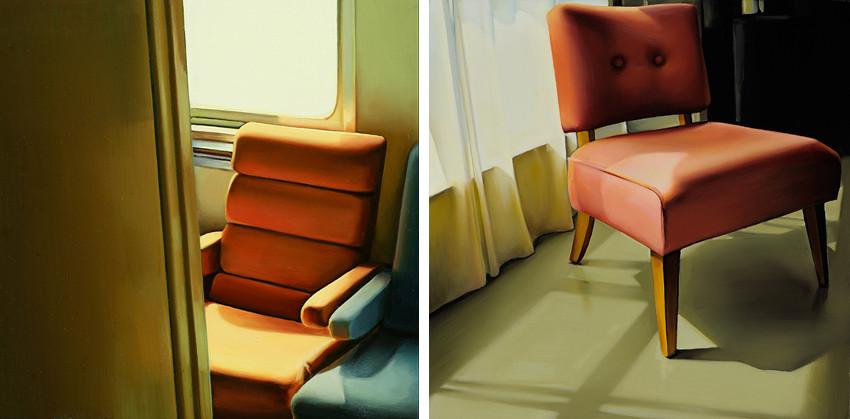 Ada Sadler - Train Chairs #27, 2012 - Evelyn's Chair #2, 2013