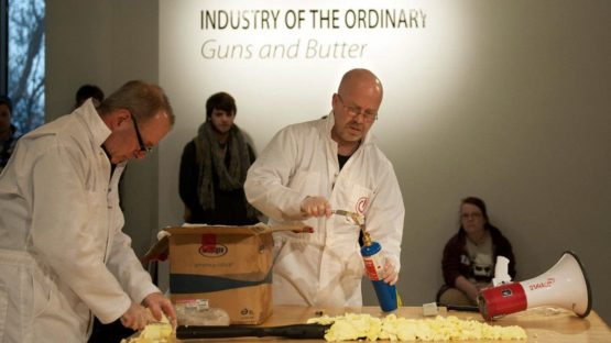 Adam Brooks - Industry of the Ordinary - Guns and Butter, photo by Shannon Pepita O'Brien, 2013, conceptual
