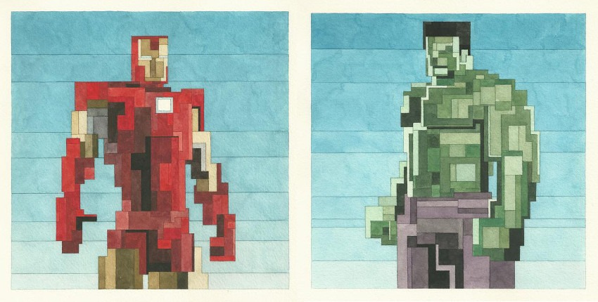 Adam Lister - Tony Stark - 2015 (Left) / The Hulk - 2015 (Right) search adamlistergallery like