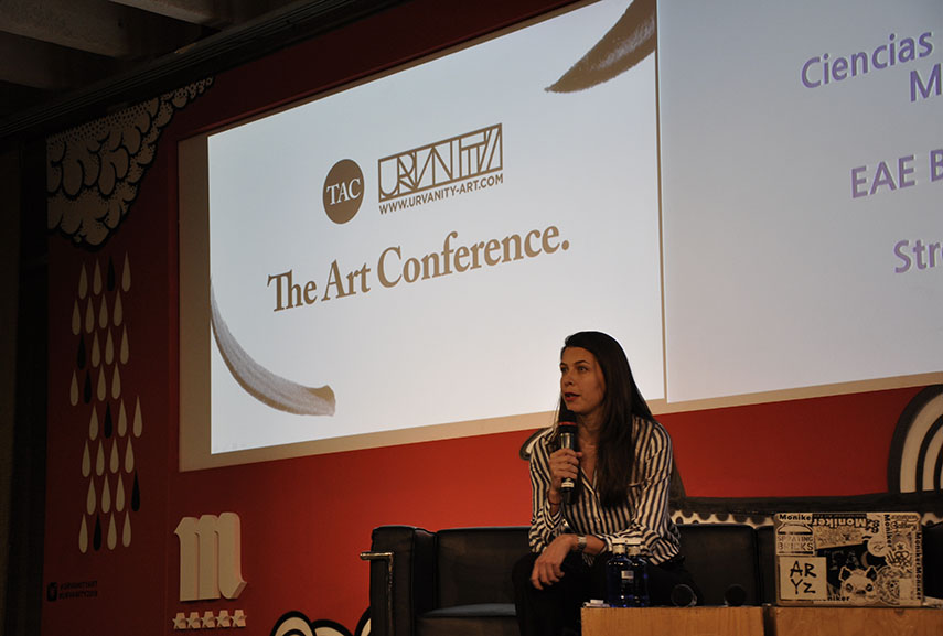 Anna Dimitrova of Montana Gallery Barcelona and ADDA Gallery Paris at The Art Conference x Urvanity 2018