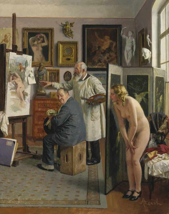 Adolf Reich-Im Kunstleratelier (In The Artist'S Studio)-