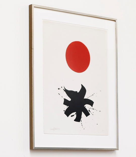Adolph Gottlieb-White Ground-Red Disc-1966