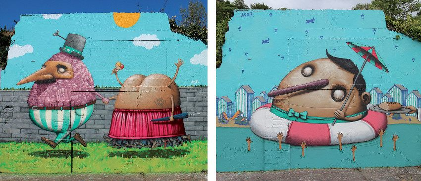 Ador - Peinture de saison 2 - March 2015 (Left) - Ador - Peinture de saison 3 - June 2015 (Right)