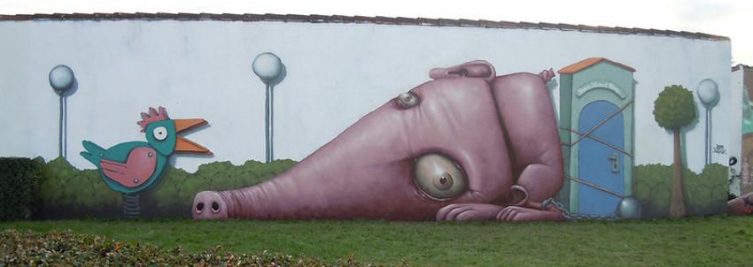 Ador - mural La Bete - 2012
