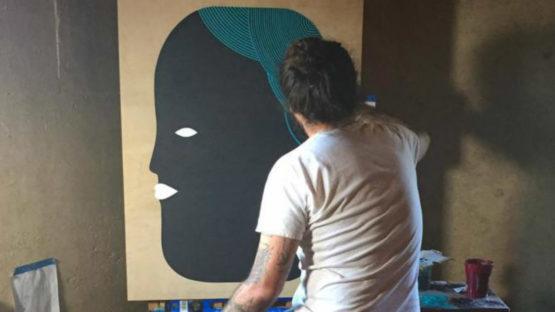 Adrian Landon Brooks - Artist in studio, photo credits stephaniechefas.com