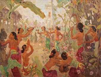 Adrien Jean Le Mayeur De Merpres-Dancers in Bali-