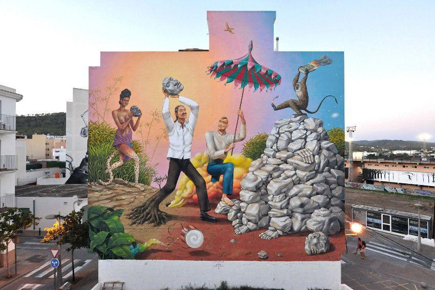 Aec Interesni Kazki - The Revolution, Ibiza, Spain, 2016, photo credits of the artist