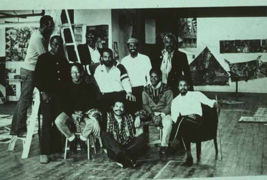 Members of the Black Arts literary community in press