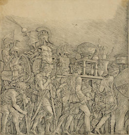Andrea Mantegna-After Andrea Mantegna - Triumph of Caesar: Soldiers Carrying Trophies-1495