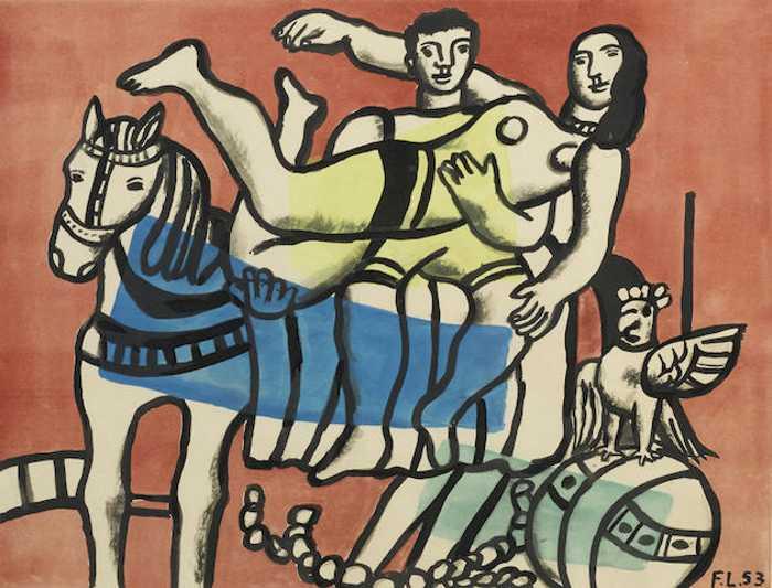 Fernand Leger-After Fernand Leger - La parade-1953
