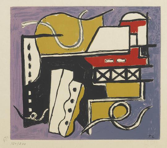 Fernand Leger-After Fernand Leger - Plate 4 from Album of 10 Serigraphs-1955