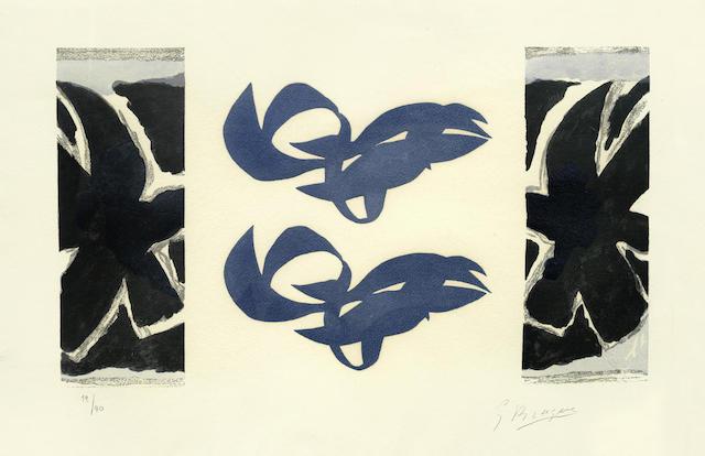 Georges Braque-After Georges Braque - Si je mourais la-bas: one plate-1962