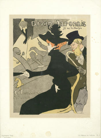 Henri de Toulouse-Lautrec-After Henri De Toulouse-Lautrec - Divan Japonais, Plate 2 from Les Maitres de L'Affiche-1893