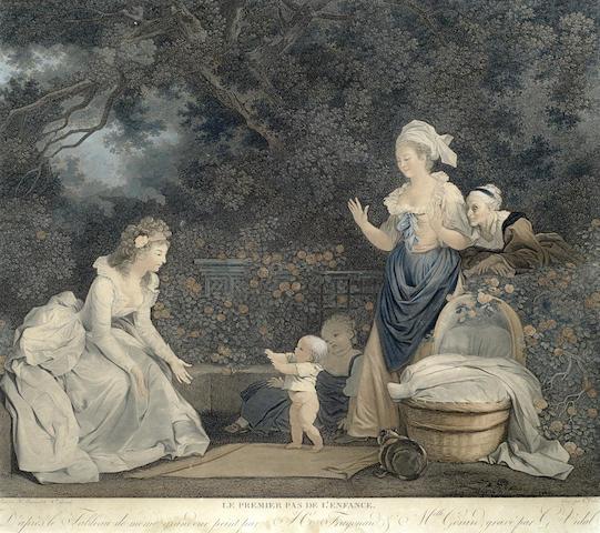 Jean-Honore Fragonard-After Jean-Honore Fragonard - Le Premier Pas De L'Enfance-