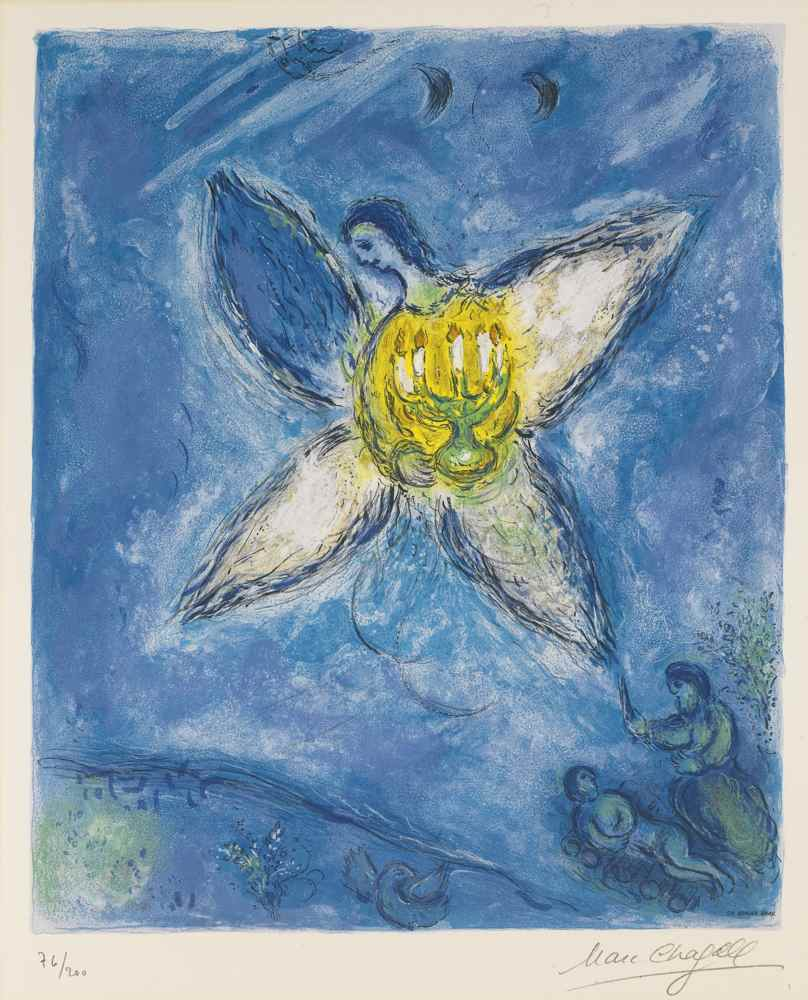Marc Chagall-After Marc Chagall - Angel With A Candlestick-1973