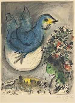 Marc Chagall-After Marc Chagall - L'Oiseau bleu-1968