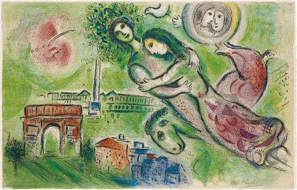 Marc Chagall-After Marc Chagall - Romeo et Juliette (Romeo and Juliet) by Charles Sorlier-1964