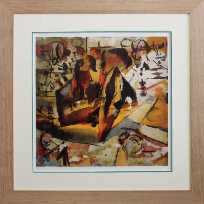 Marcel Duchamp-After Marcel Duchamp - Composition-1911