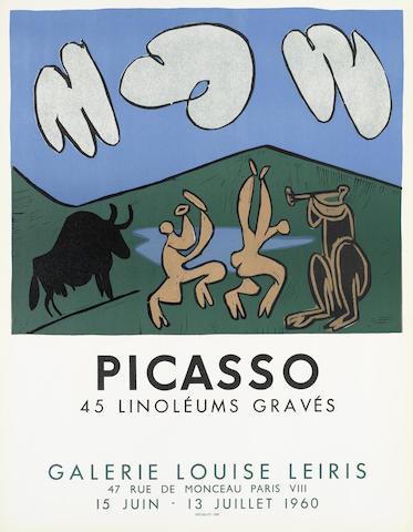 Pablo Picasso-After Pablo Picasso - 45 Linoleums Graves-1960