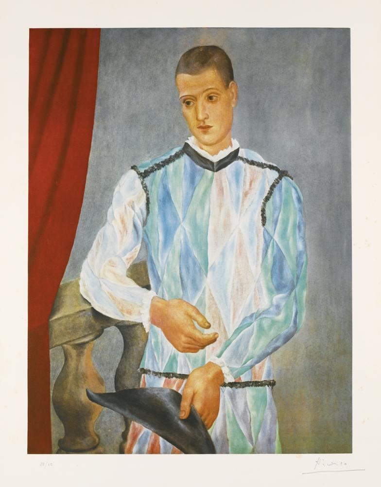 Pablo Picasso-After Pablo Picasso - Arlequin (Czwiklitzer 230)-1966