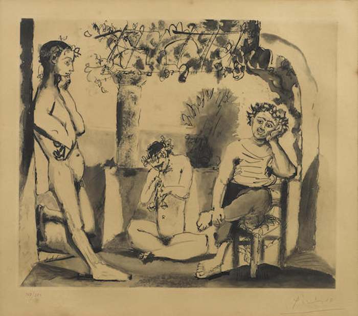Pablo Picasso-After Pablo Picasso - Bacchanal-1955