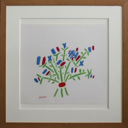 Pablo Picasso-After Pablo Picasso - Bouquet de fleurs-