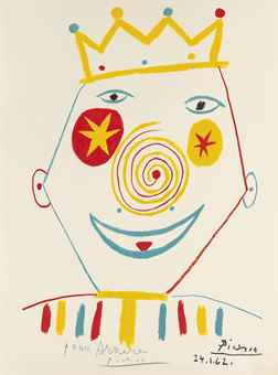 Pablo Picasso-After Pablo Picasso - Clown-1962