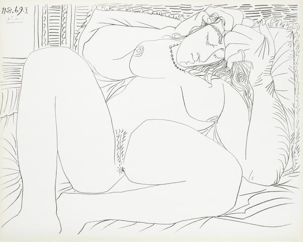 Pablo Picasso-After Pablo Picasso - Femme Nue I and VI-1957