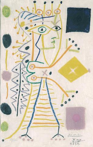Pablo Picasso-After Pablo Picasso - Jacqueline-1958