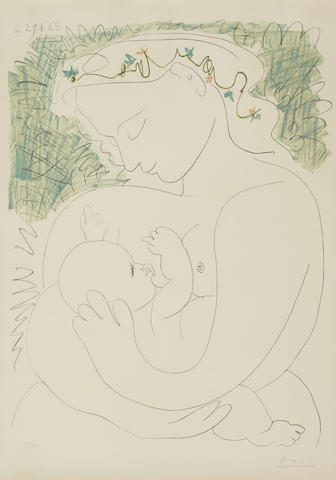 Pablo Picasso-After Pablo Picasso - Maternite-1963