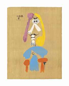 Pablo Picasso-After Pablo Picasso - One plate, from: Imaginary Portraits-1969