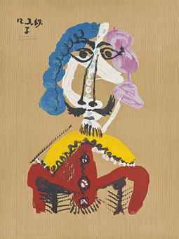 Pablo Picasso-After Pablo Picasso - One plate, from Imaginary Portraits-1969