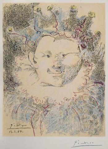 Pablo Picasso-After Pablo Picasso - Tete de Buffon (Arlequin)-1964