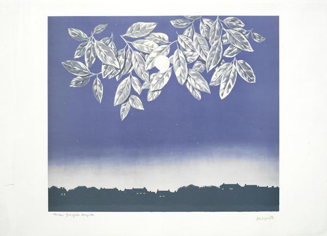 Rene Magritte-After Rene Magritte - La Page Blanche-