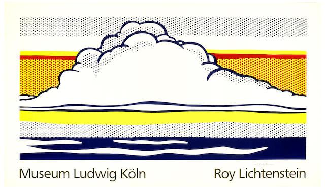 Roy Lichtenstein-After Roy Lichtenstein - Museum Ludwig Koln (Cloud and Sea) (Not in Corlett)-1989