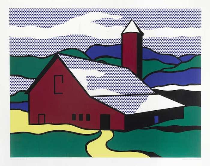Roy Lichtenstein-After Roy Lichtenstein - Red Barn II-1969