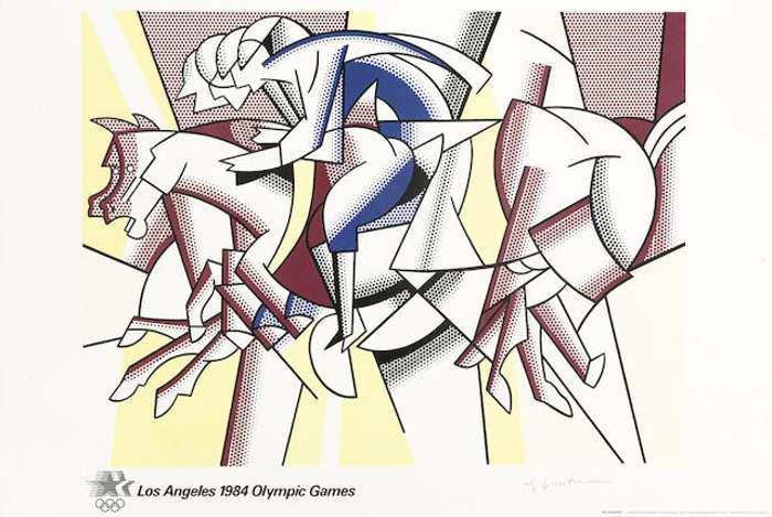 Roy Lichtenstein-After Roy Lichtenstein - The Red Horseman-1982