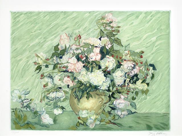 Vincent van Gogh-After Vincent Van Gogh - Les Roses-1927