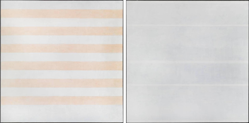 Agnes Martin - Happy Holiday, 1999 (Left) - Faraway Love, 1999 (Right)