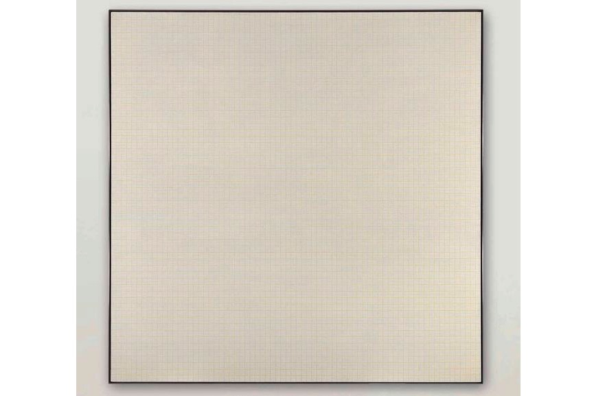 Agnes Martin - Orange Grove, 1965, sold for $9,4 million