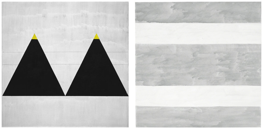 Agnes Martin - Untitled #1, 2003 (Left) - Untitled, 2004 (Right)