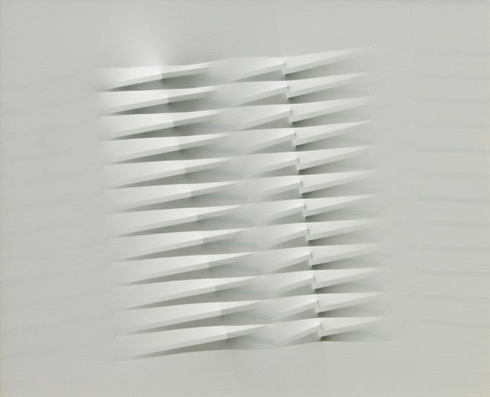 Agostino Bonalumi - Bianco, 1986
